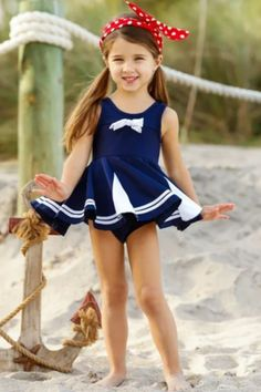 Your little beach cutie can splash the day away in style with this bright and trend-right swimsuit. This designer bathing suit is made of soft fabric to protect her sensitive skin and makes it ideal for pool party.  #swimset #poolparty #swimsuit #bathingsuit #collection #clothing #fashion #style #online #store #sale #offers Girls Sports Clothes, Girls Fashion Clothes, Baby Girl Fashion, Little Girl Models, Little Girl Outfits, Cute Girl Outfits, Unique Swimsuits, Two Piece Swimsuits, One Piece Swimsuit