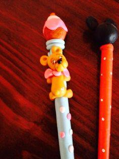 Lapicera de oso y de Mickey Mause