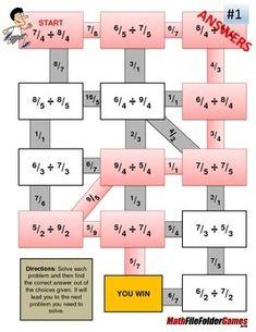 Fraction Maze - Improper Fraction - DIVISION