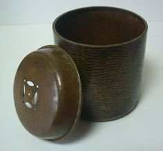 Hammered bronze chakoboshi, vintage Japanese by StyledinJapan on Etsy
