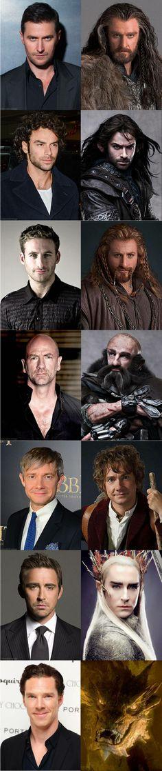 Hobbit cast #Hobbit #DesolationofSmaug #Movies #Makeup