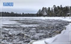 My roots come from my mom's side here from Kainuu.  Icy Cold River-postcard.
