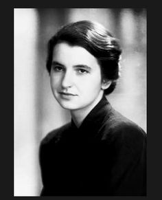 Rosalind Franklin, one of the most brilliant scientists. We have her to thank for understanding DNA, as well as her many other contributions.