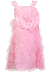 Check out this pink frock from Anna Maria that will make your daughter look like a little princess. Featuring a beautiful floral patch on the front, this sleeveless frock will fetch her loads of compliments.