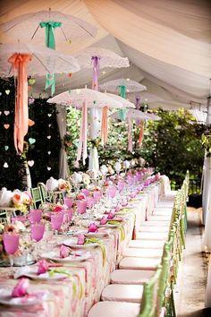 Wedding & Sangeet Decor - Beautiful Pastel Green, Purple, Pink Decor with Hanging Umberellas | WedMeGood For more decor ideas visit www.wedmegood.com #wedmegood #decor #DIY #pastel #indianwedding #pink #umberellas