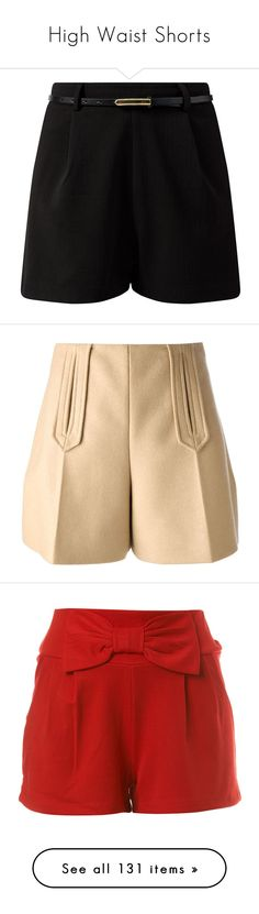 """""""High Waist Shorts"""" by chathurika-gamage ❤ liked on Polyvore featuring shorts, woven shorts, mini shorts, belted shorts, short, bottoms, pants, beige shorts, high waisted pleated shorts and highwaist shorts"""