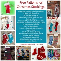 Free Patterns for Christmas Stockings at Oombawka Design Crochet. Any design you want is probably here.#ad