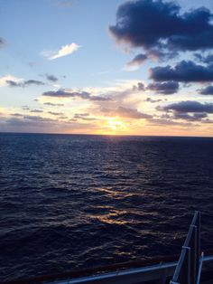 Beautiful scene off the cruise ship!