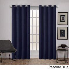 Exclusive Home Curtains & Drape Sateen Twill Weave Blackout Grommet Top Curtain Panels (Set of Home Curtains, Window Curtains, Beaded Curtains, Thermal Windows, Thermal Drapes, Peacoats, Exclusive Homes, Drapery Panels, Space Furniture