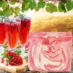 Champagne Pomegranate CP Soap Recipe created with real champagne and Champagne Pomegranate Fragrance Oil #naturesgarden #soapmaking #champagne #champagnepimegranatescent #fragrancefun #linkinbio