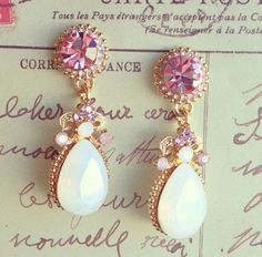 Statement earrings. (We have some that look just like these at Charming Charlie's)
