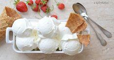 """Noémi, a MandulaSarok  blog szerzője lett a 49. VKF!  háziasszonya. Fantasztikus témát választott. Így egyszerűen a """"Fehér és ..."""". Arra kér... Ice Cream Freeze, Frozen Yoghurt, Sorbet, Gelato, Parfait, Camembert Cheese, Food To Make, Fudge, Smoothie"""
