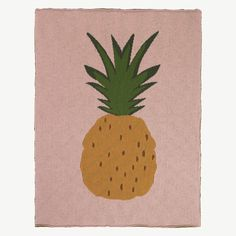 ferm LIVING kids rosa Decke mit Ananas-Print