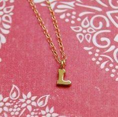 """a tiny """"L"""" necklace?? l.o.v.e."""
