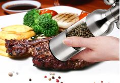 Free shipping 304 Stainless steel rudder-shaped faucet grinder easy  salt pepper mills grinder