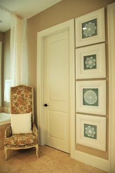 Framed Doilies. Genius. ... #decoration #decorations #doilies #Door #framed #Genius