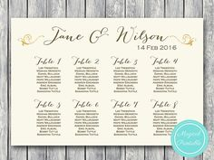 176 best wedding seating chart printable images on pinterest in 2018