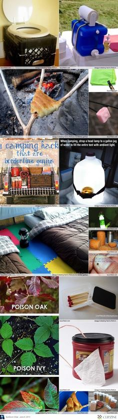 Check Out These Amazing Camping Hacks That Are Pure Genius Camp Ideas Love The Toilet And Sink Especially Lovin Playmat Floor