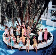 Vintage Lilly Pulitzer Photo Shoot - Palm Beach, Florida - photo by Slim Aarons