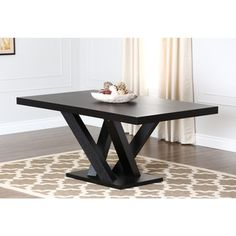 Abbyson Living Espresso Wood Dining Table (rectangle kitchen table)