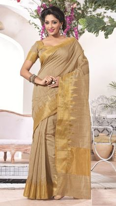 d59c40826f Buy designer party wear saree from our latest collection. Order this  versatile tan brown casual jacquard saree.