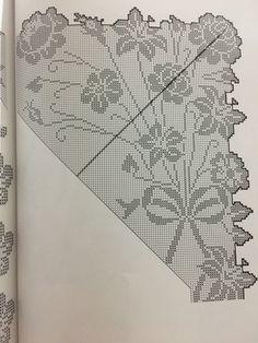 Σεμεν Crochet Borders, Filet Crochet, Crochet Lace, Holiday Crochet Patterns, Crochet Tablecloth Pattern, Patterns In Nature, Crochet Designs, Holidays And Events, Doilies