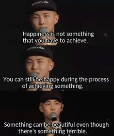 Rap monster BTS He's quotes are so meaningful Bts Lyrics Quotes, Bts Qoutes, Drake Lyrics, Bts Boys, Bts Bangtan Boy, Bts Citations, Kpop, Wisdom Quotes, Life Quotes