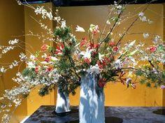 Western flowers meet ikebana