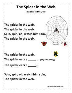 My Spider Poempdf Reading In The Class Spider Poem Spider Poems