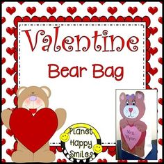 This is a Valentine bear bag for the students to create to put their Valentines in for a Valentine Exchange.