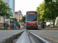 """""""Ein ULF der Linie D"""" Rail Europe, Light Rail, Street View, Simple Lines"""