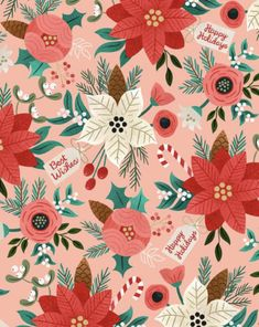 Christmas Floral Pattern - CO391