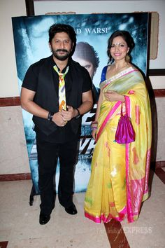 Arshad Warsi arrived with his pretty wife Maria Goretti at the first look launch…