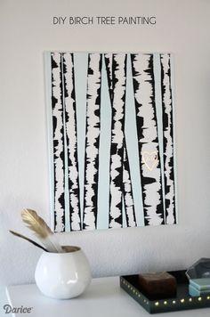 DIY Birch Tree Painting - so simple and fun!