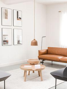 OUTLINE sofa, AROUND table, OSLO sofa, PLY rug. Muuto showroom Cereal Copenhagen…