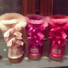 Ugg boots with bows. I want the middle pink ones.... #Cyber_Monday #Price_Drop http://www.lrpvcgi.com   $89.99  cheap ugg boots, ugg shoes 2015, fashion winter shoes