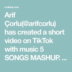 Arif Çorlu(@arifcorlu) has created a short video on TikTok with music 5 SONGS MASHUP. One ☝️ Two 🤘 Three 🤟 #arifcorlu #foryou #fyp #degisim #tiktok One Two Three, Songs, Tv, Television Set, Song Books, Television