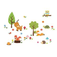 DIY Removable Cute Animals Zoo Wall Sticker Art Decal For Kids Nursery Baby Room
