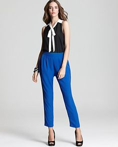 Black and White with Electric Blue - Color Block