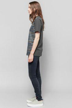 Wood Wood 'Eddy' Shirt | R13 Black Marble Skinny Jean | Eytys Mother Suede Sneakers | My Chameleon