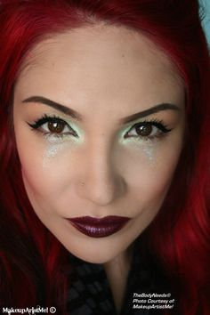 """""""Fairy Tales"""" by #redznowhite #makeupartistme using Firefly, Shimmers Green, Beach Party and Almost Naked #pigment Love Sick #blush #mac 's Cyber and Striptease #lipstick #mineral #vegan  #crueltyfree (TBN, not MAC) #cosmetic #makeup #lotd #beauty makeupartistme.blogspot.com"""