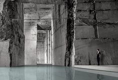 Projeto vencedor do concurso internacional Carrara Thermal Baths,Cortesia de Rethinking Architecture Competitions