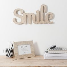 Mot déco Smile BLACKSTAGE | Maisons du Monde