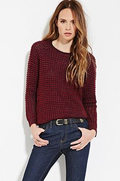 Contemporary Classic Waffle Knit Sweater | Forever 21 - 2027704589