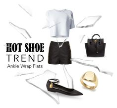 """So Stylish: Ankle Wrap Flats"" by alevalepra ❤ liked on Polyvore featuring Alexander Wang, Topshop, Michael Kors, Guide London and Tom Ford"