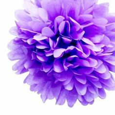 Add a stylish touch to your next event with this gorgeous Purple Tissue Pom Pom!Available in a range of gorgeous colours these pom poms can be strung from the ceiling at varying lengths, stuck to walls or use them to make a garland - the possibilities are endless!  Best of all, once the party is complete simply transfer them to another room in the house - they make a gorgeous addition to kids rooms, play rooms and living rooms!...