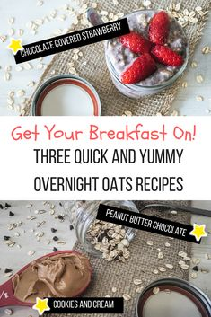 Are you looking for a quick and easy healthy breakfast option? Our favorite overnight oatmeal recipes are a must try! #healthybreakfast #overnightoatmeal #kidfriendly