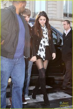 Selena Gomez -I love these tights! I want this outfit
