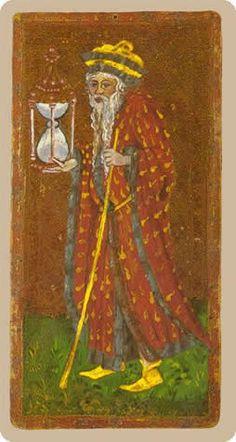 Cary-Yale Visconti Tarot - The Hermit