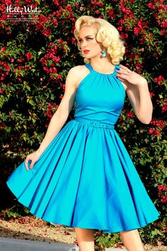 Harley Dress in Bright Blue